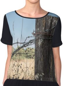 Old Fence Post Chiffon Top