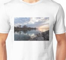 Limpid - Crystal Clear Peaceful Waterfront Sunrise Unisex T-Shirt