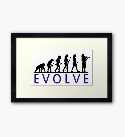 Women's Violin Evolution Framed Print