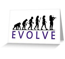 Women's Violin Evolution Greeting Card