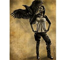 Raven Stay Strong 1 Photographic Print