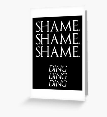 Shame. Greeting Card
