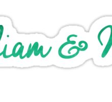 William and Mary Watercolor Sticker