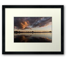 Reflecting on Boats and Clouds III Framed Print