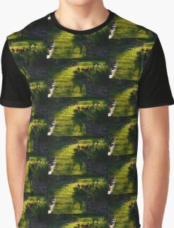 Green Garden Path - Impressions Of Spring Graphic T-Shirt