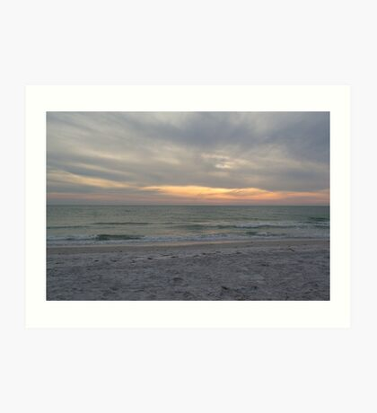 Sunset on the Gulf of Mexico Art Print