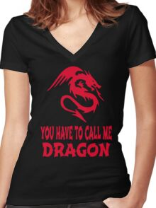 Step Brothers - You Have To Call Me Dragon Women's Fitted V-Neck T-Shirt