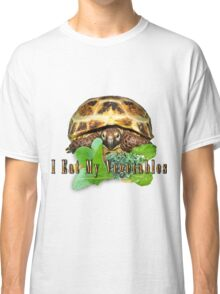 Tortoise - I Eat My Vegetables Classic T-Shirt