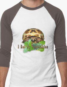 Tortoise - I Eat My Vegetables Men's Baseball ¾ T-Shirt