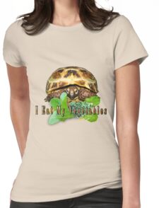 Tortoise - I Eat My Vegetables Womens Fitted T-Shirt