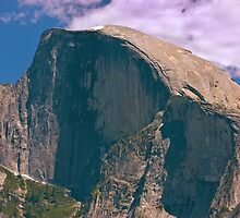 Half Dome Yosemite NP  - The Last of the Snow by Buckwhite