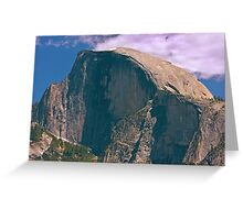 Half Dome Yosemite NP  - The Last of the Snow Greeting Card