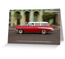 Vintage Chevy in Havana, Cuba Greeting Card