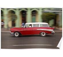 Vintage Chevy in Havana, Cuba Poster