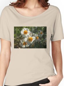 Sunny Side Up - Daffodils Blooming in a Fabulous Spring Garden Women's Relaxed Fit T-Shirt