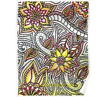 Flower Doodles Poster