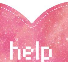 Help - red Sticker