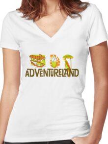Adventureland Women's Fitted V-Neck T-Shirt