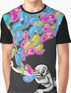 ghosts flying out of a weird monsters mouth Graphic T-Shirt
