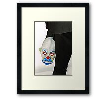 Joker's Mask Framed Print