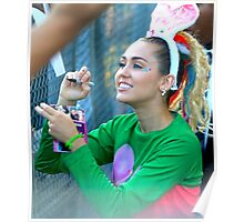 Miley Cyrus Signing Autographs Poster