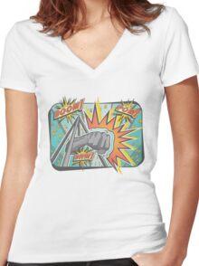Pop Comic Series: Joe Louis Power Punch Women's Fitted V-Neck T-Shirt