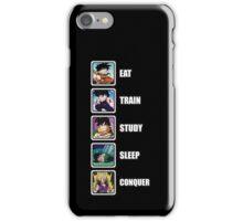 Eat, Train, Study, Sleep, Conquer (Gohan, Vertical) iPhone Case/Skin