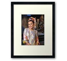 Miley Cyrus SNL 2015 Framed Print