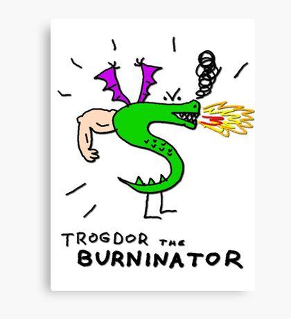 Trogdor, The Burninator Canvas Print