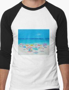 Beach painting - Summer Men's Baseball ¾ T-Shirt