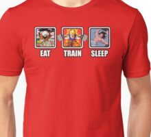 Eat, Train, Sleep (Goku Squat) Unisex T-Shirt