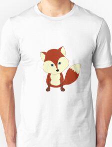 Cute Little Red Fox Unisex T-Shirt