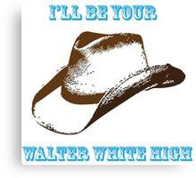 Chris Lane - Walter White High Canvas Print