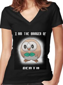 Bringer of Death Rowlet Women's Fitted V-Neck T-Shirt