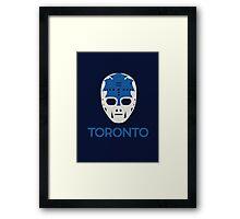 Vintage Toronto 70's Goalie Mask Framed Print