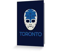 Vintage Toronto 70's Goalie Mask Greeting Card
