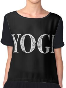 Serif Stamp Type - Yogi inverted Chiffon Top