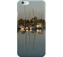 Quiet Summer Afternoon - Boats and Downtown Skyline iPhone Case/Skin