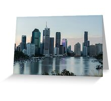 View of Brisbane City from Kangaroo Point Greeting Card