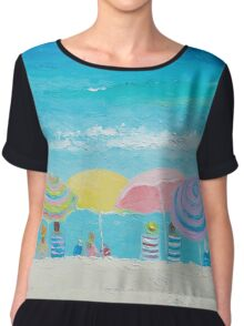 Beach painting - Color of Summer Chiffon Top