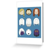 Defiance Minimalistic Character Set  Greeting Card