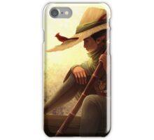 Lonely river Ferryman accompanied by a Cardinal iPhone Case/Skin