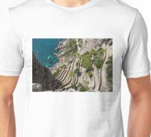 Contemplating Mediterranean Vacations - Via Krupp, Capri Island, Italy Unisex T-Shirt