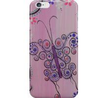 Pink & Purple Butterfly iPhone Case/Skin