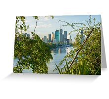 Magnificent view of Brisbane City from Kangaroo Point Cliffs Greeting Card
