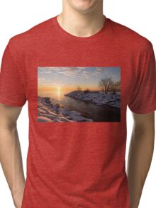 Brilliant, Bright and Cold - a Winter Morning on the Lake Shore Tri-blend T-Shirt