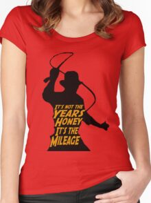Indiana Jones:  It's the Mileage Women's Fitted Scoop T-Shirt