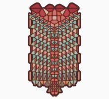 Water Snake Voronoi One Piece - Short Sleeve
