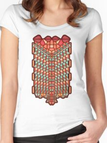Water Snake Voronoi Women's Fitted Scoop T-Shirt