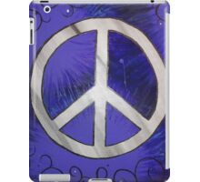 Retro Purple Peace Sign iPad Case/Skin